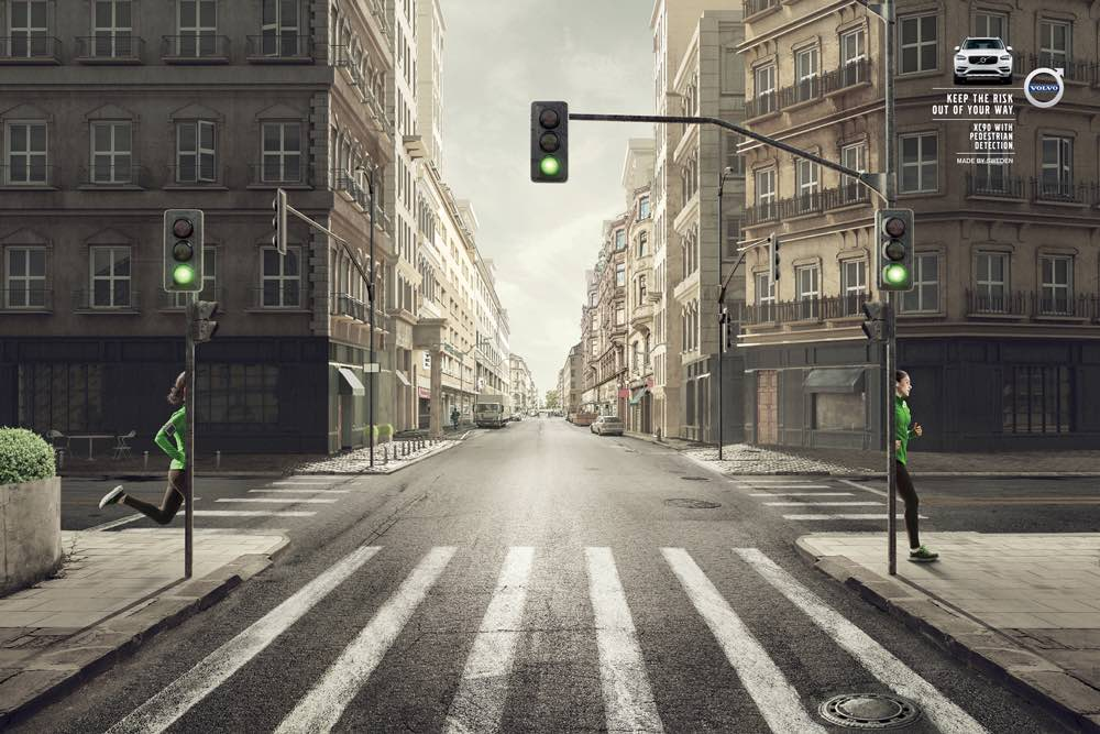 volvo xc   safety system  detects pedestrians  cyclists campaigns   world