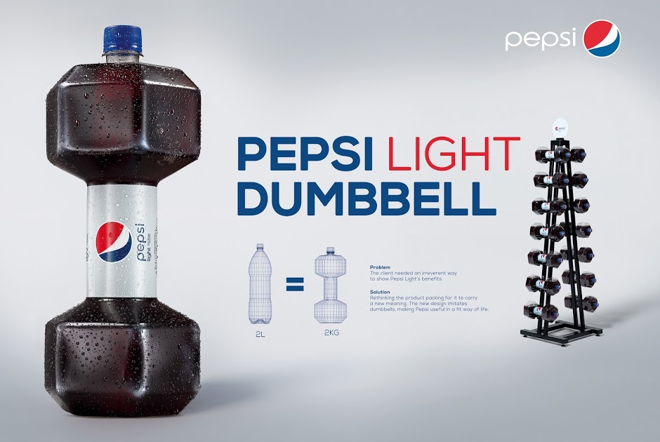 pepsi light dumbbell campaigns of the world. Black Bedroom Furniture Sets. Home Design Ideas